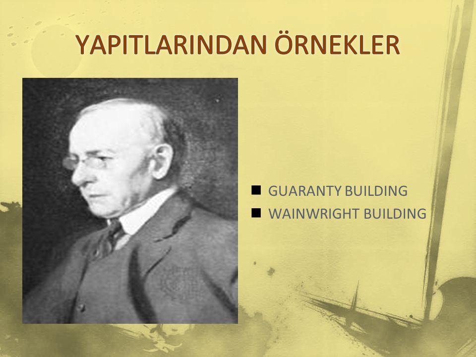 GUARANTY BUILDING WAINWRIGHT BUILDING