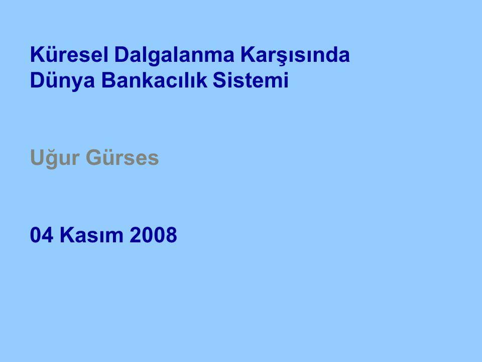 Küresel Dalgalanma Karşısında Dünya Bankacılık Sistemi Uğur Gürses 04 Kasım 2008