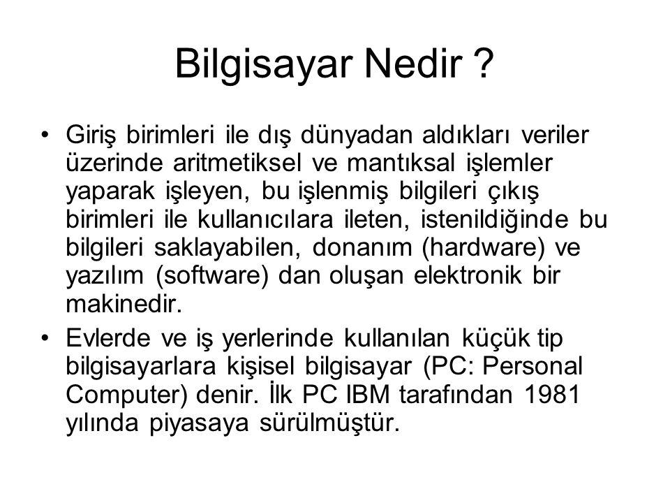 Bilgisayarın Tarihçesi Çağdaş Bilgisayarların Ataları - 1 16.
