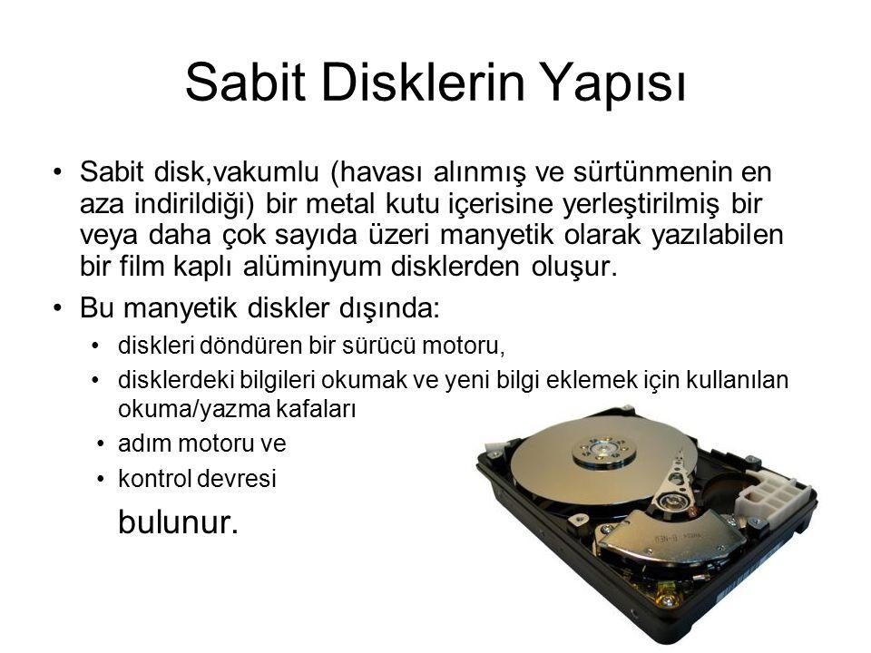Disket Sürücü (Diskette Drive) Diskete (floppy disk) veri yazan ya da okuyan birimdir.