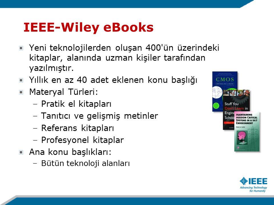 Yeni teknolojilerden oluşan 400 ün üzerindeki kitaplar, alanında uzman kişiler tarafından yazılmıştır.