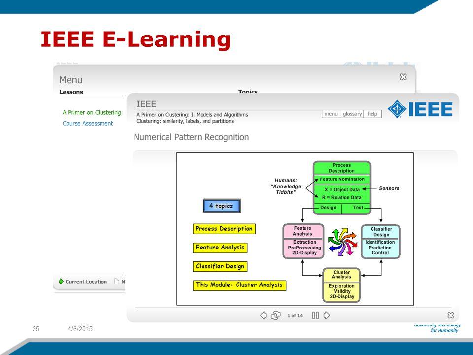 4/6/201525 IEEE E-Learning