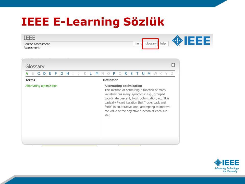IEEE E-Learning Sözlük
