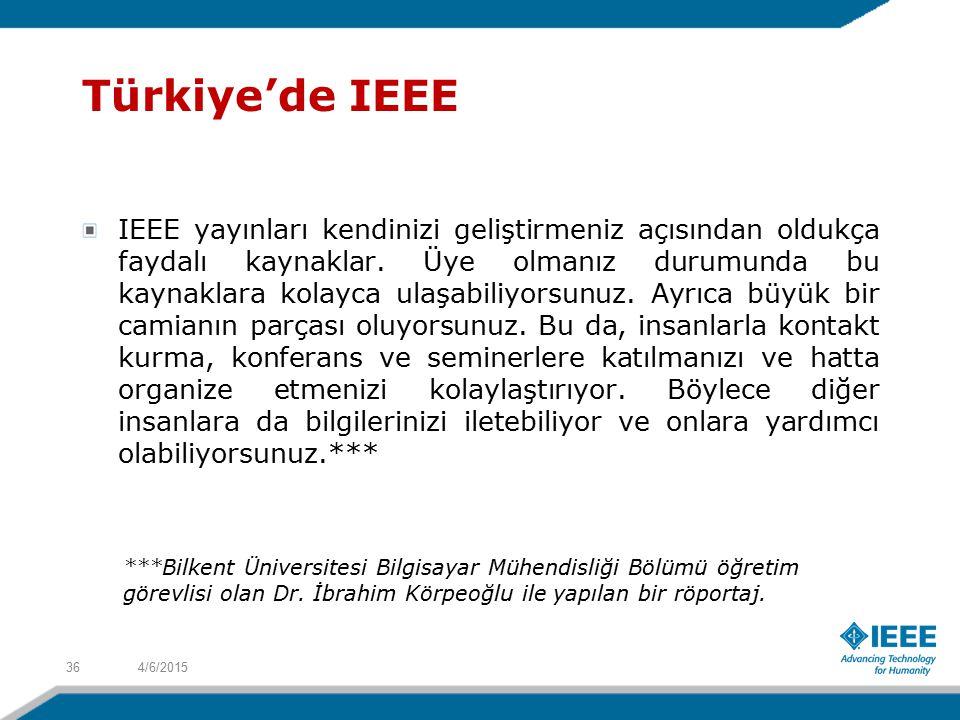 4/6/201536 IEEE yayınları kendinizi geliştirmeniz açısından oldukça faydalı kaynaklar.