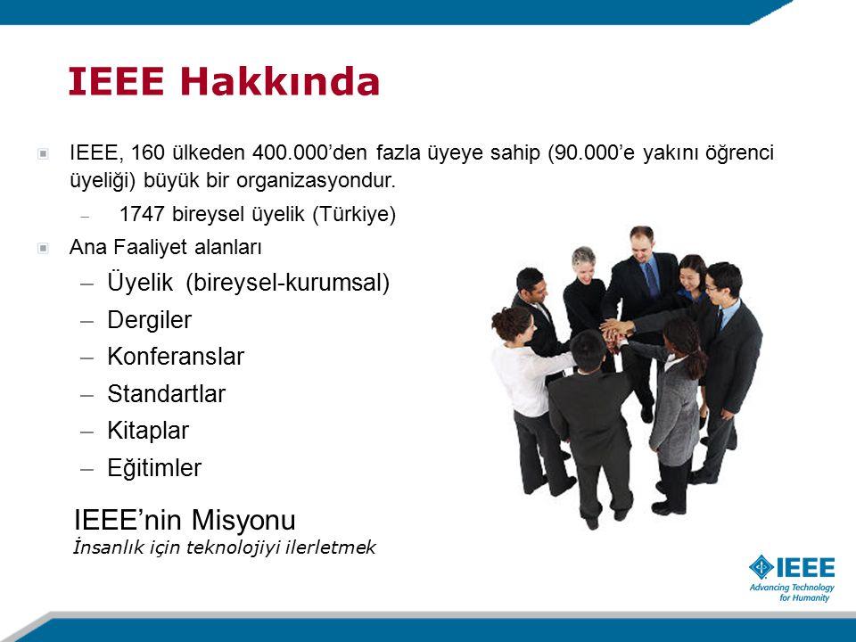 IEEE, 160 ülkeden 400.000'den fazla üyeye sahip (90.000'e yakını öğrenci üyeliği) büyük bir organizasyondur.
