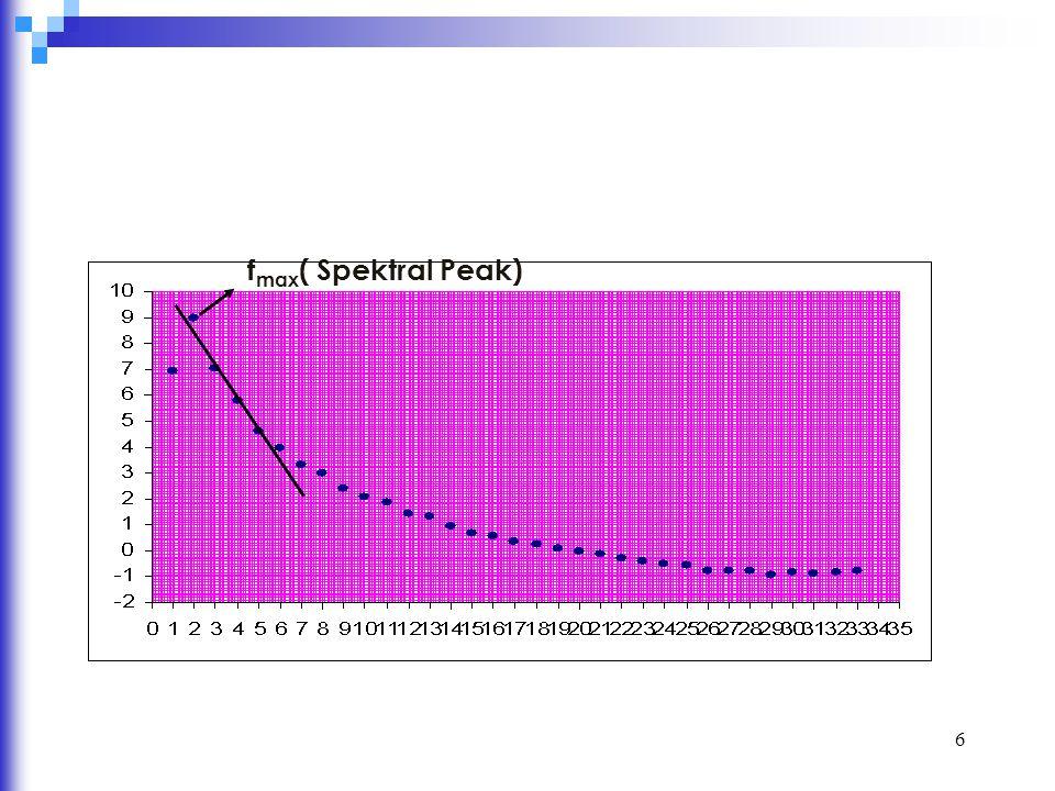 7 İkinci yöntem, Okubo vd.(1985, 1989) geliştirdiği güç spektrumu analizine dayanmaktadır.