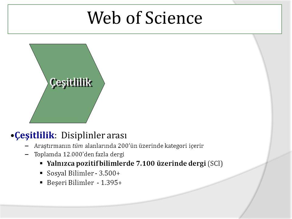 Yayıncı Cited reference search sayfasında yer alan cited work alanı altında dergi adı ile tarama yapılabiliyor… Aranılan derginin Web of Science'da dizinleniyor olması gerekmiyor…
