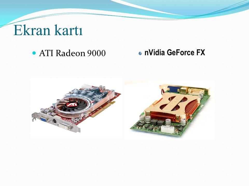 Ekran kartı ATI Radeon 9000 nVidia GeForce FX
