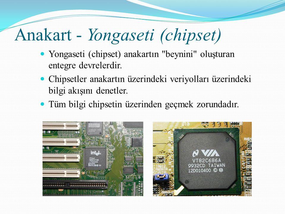 Anakart - Yongaseti (chipset) Yongaseti (chipset) anakartın