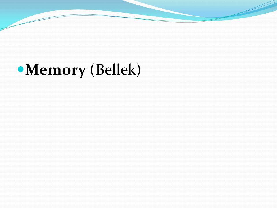Memory (Bellek)