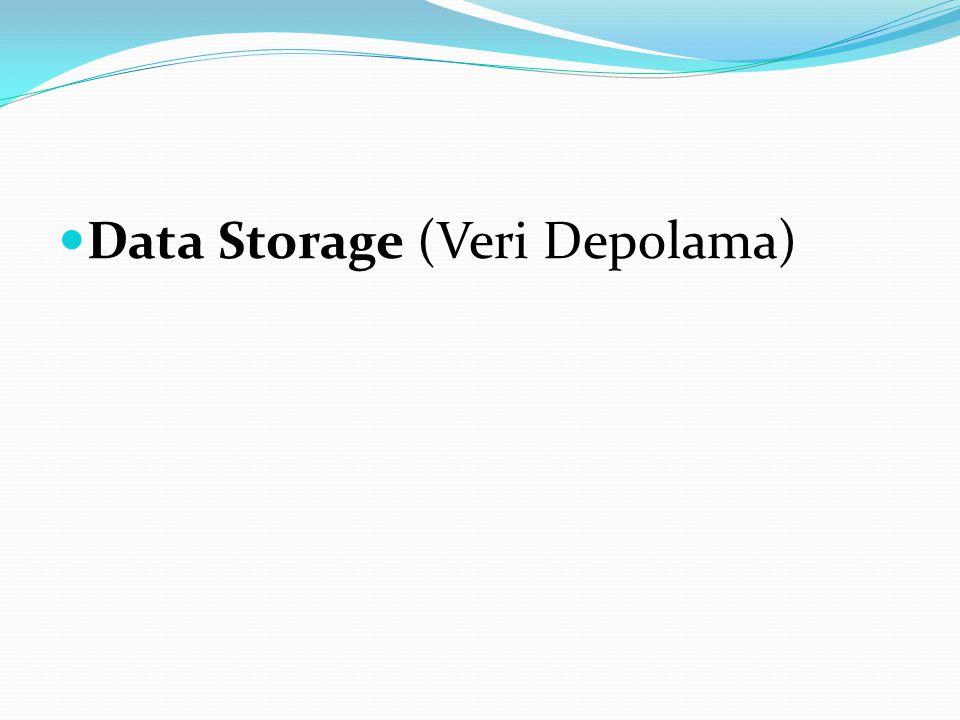 Data Storage (Veri Depolama)