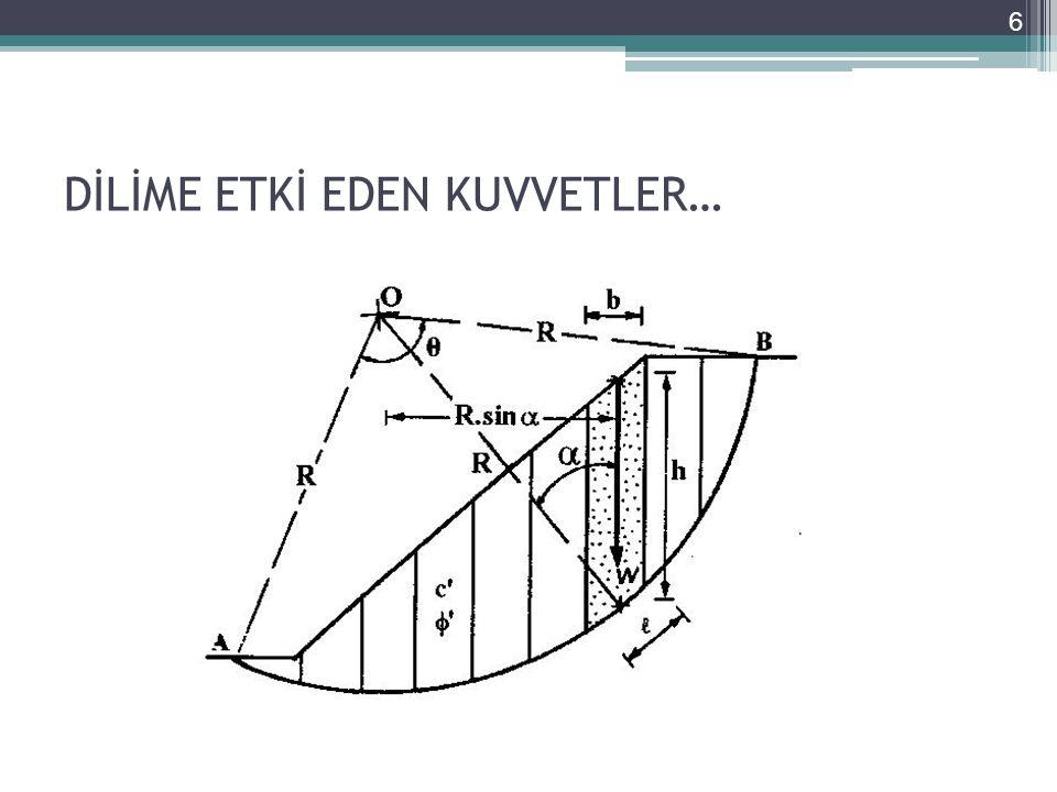KAYNAKLAR Geoteknik Bilgisi II, Yamaç Ve Şevlerin Mühendisliği Akın ÖNALP-Ersin AREL Çözümlü Problemlerle Şev Stabilite Analizi Ergin ARIOĞLU-Nuray TOKGÖZ 27