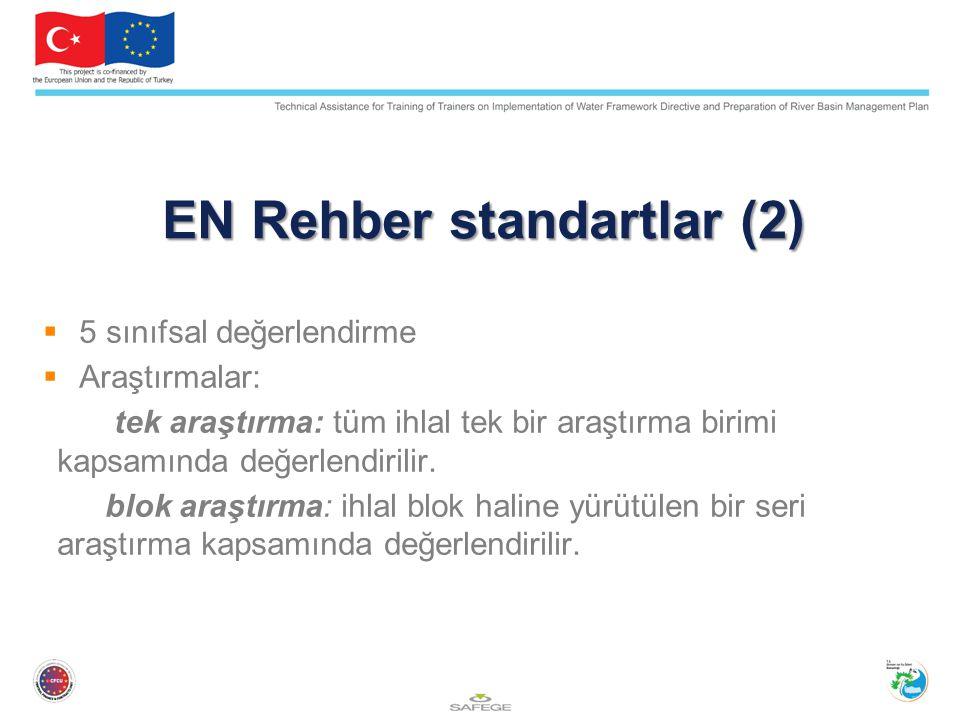EN Rehber standartlar (2)  5 sınıfsal değerlendirme  Araştırmalar: tek araştırma: tüm ihlal tek bir araştırma birimi kapsamında değerlendirilir.