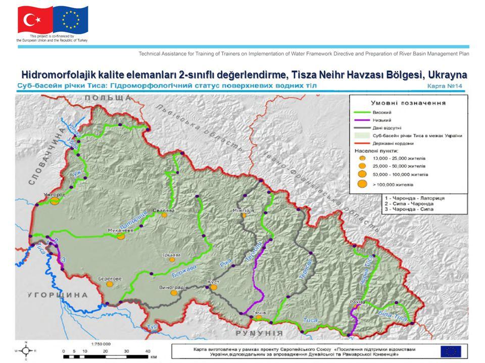 Hidromorfolajik kalite elemanları 2-sınıflı değerlendirme, Tisza Neihr Havzası Bölgesi, Ukrayna