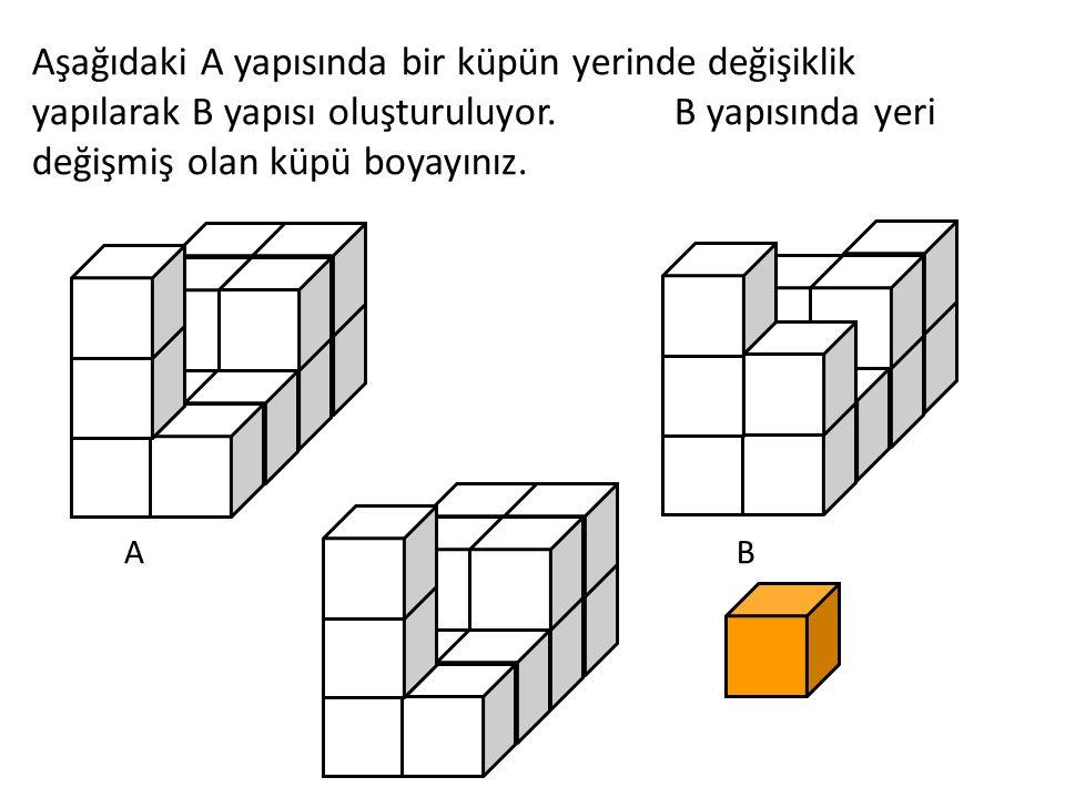 Eş iki dikdörtgen prizmayı, şekildeki gibi birleştirirsek hangi geometrik şekli elde ederiz?