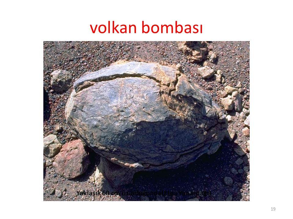 volkan bombası 19 Yaklaşık 60 cm uzunluğunda(Etna Yanardağı)