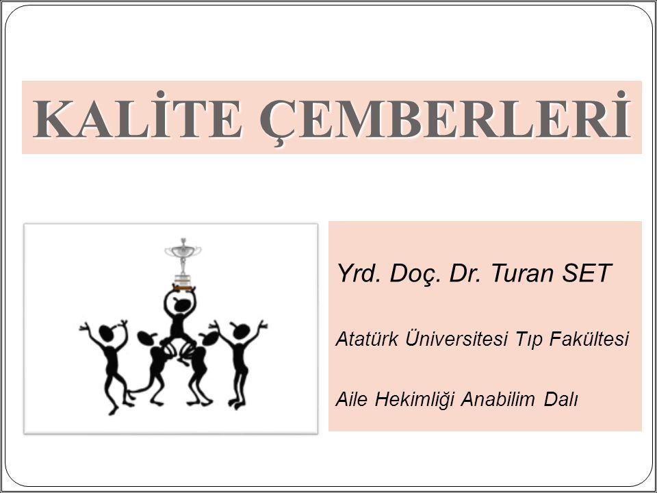 1 Yrd. Doç. Dr. Turan SET Atatürk Üniversitesi Tıp Fakültesi Aile Hekimliği Anabilim Dalı KALİTE ÇEMBERLERİ