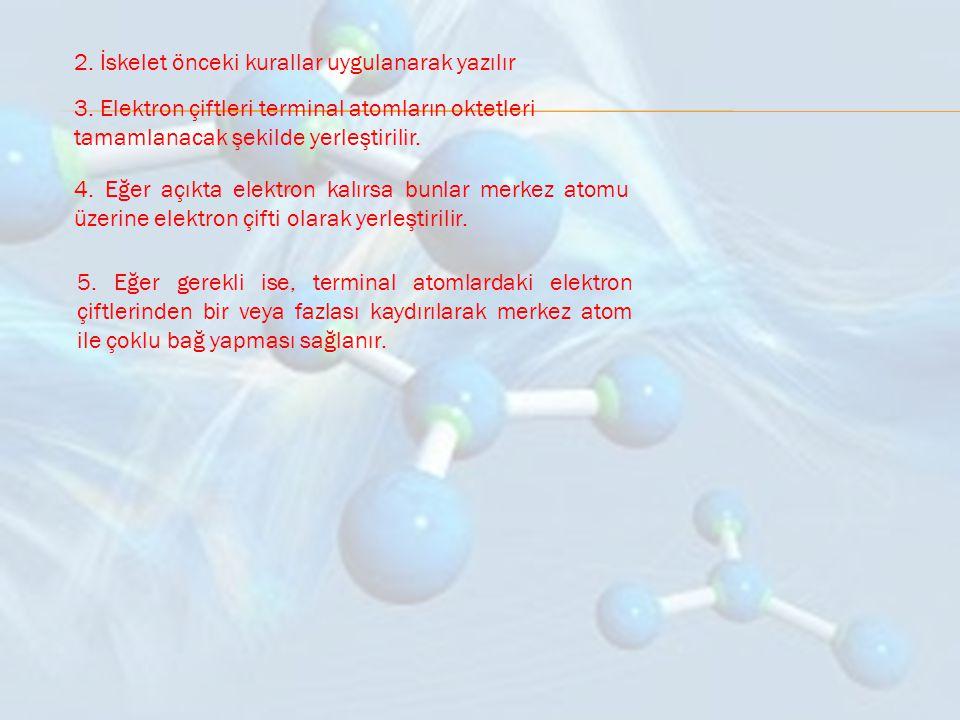 ÖRN: Nitrojen triflorür (NF 3 ) molekülünün Lewis yapısını yazınız.