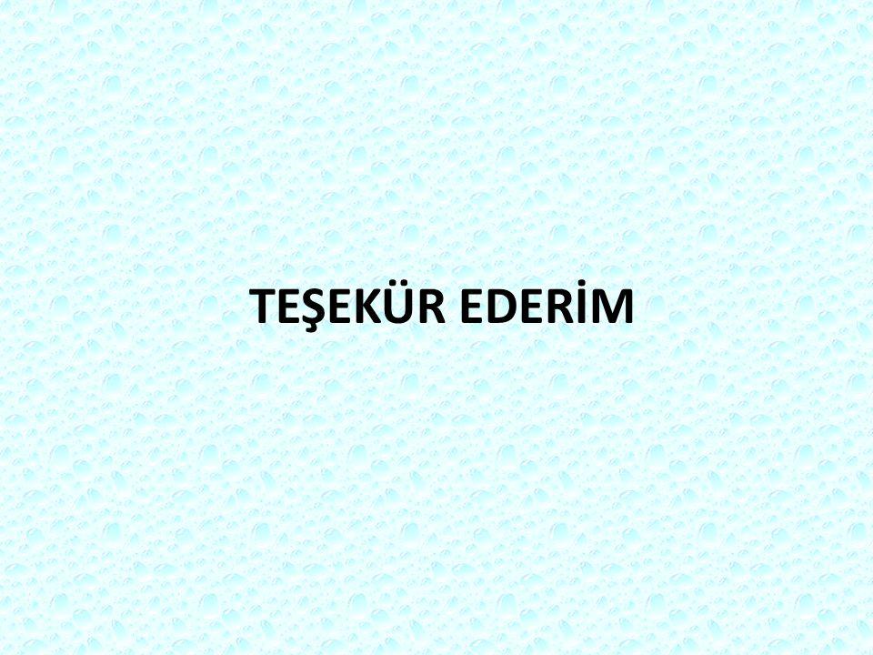 TEŞEKÜR EDERİM