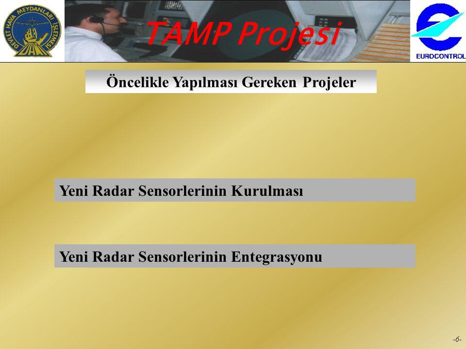 TAMP Projesi -5--5- İzlenecek Yol  Her bölüm (Seyrüsefer, Elektronik, Haberleşme, Hasılat, İstatistik) TAMP projesinden beklentileri için ihtiyaç lis