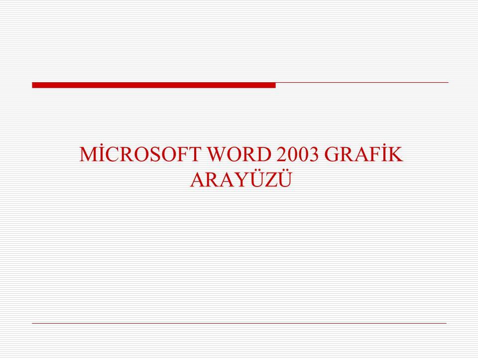 Biçim Menüsü  Yazı tipi değiştirilebilir ve yazı stili belirlenebilir.