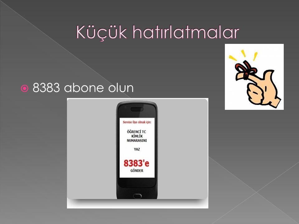 8383 abone olun
