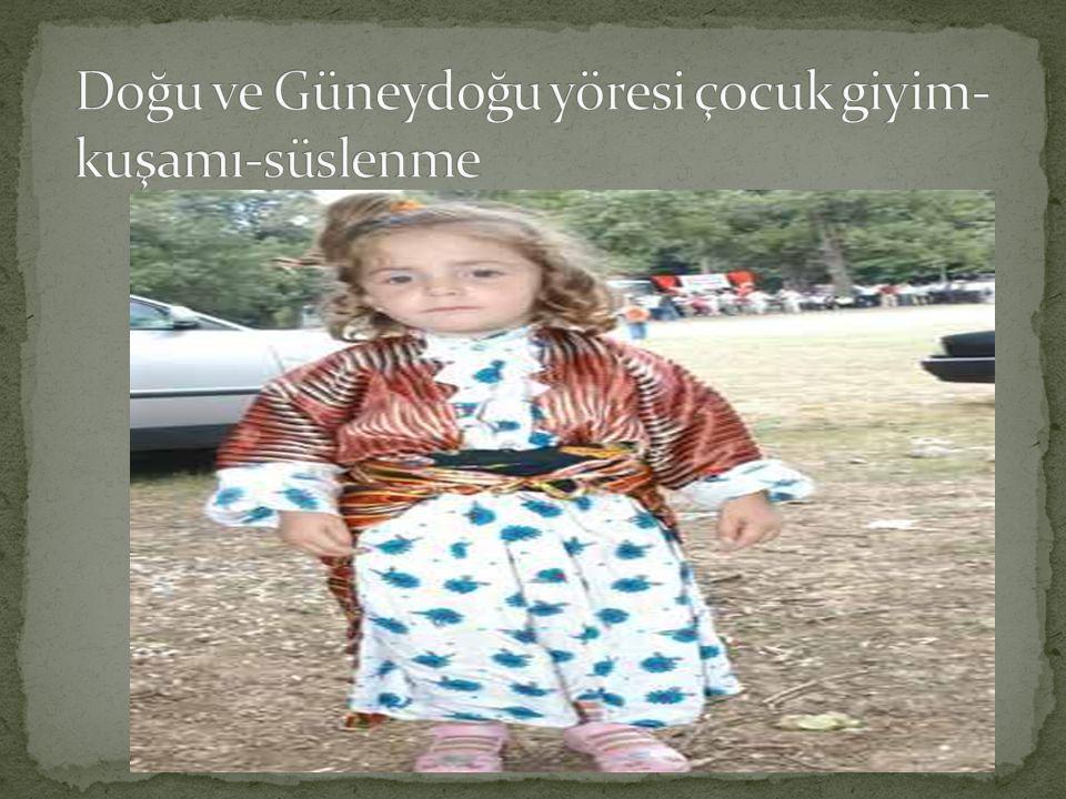 Karadeniz bölgesi çocuk giyim-kuşamı-süslenme