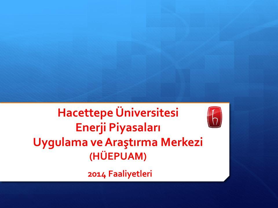 HÜEPUAM  Kuruluş : 08/02/2010  Amaç : Üniversitemizin ilgili akademik birimlerinin işbirliği ile yurt içi ve yurt dışında enerji piyasaları ve enerji ürünlerine dayanan emtia ve türev borsaları ile ilgili her alanda araştırma, uygulama, eğitim ve danışmanlık yapmak  Yönetim Kurulu (16/01/2013) : Prof.