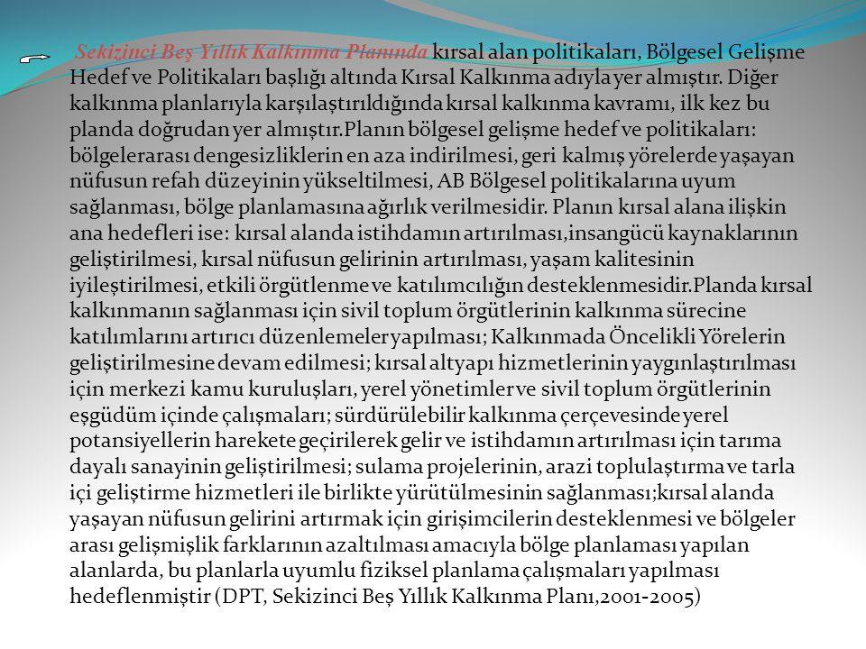 Dokuzuncu Beş Yıllık Kalkınma Planı,2007-2013 dönemine ilişkin uluslararası gelişmeler ve temel eğilimler doğrultusunda, Türkiye ekonomisine ilişkin geçmiş dönemdeki gelişmeler ile mevcut ekonomik ve sosyal gelişmeler dikkate alınarak hazırlanan Dokuzuncu Kalkınma Planının vizyonu, istikrar içinde büyüyen, gelirini daha adil paylaşan, küresel ölçekte rekabet gücüne sahip, bilgi toplumuna dönüşen ve AB'ye üyelik için uyum sürecini tamamlamış bir Türkiye olarak belirlenmiştir.