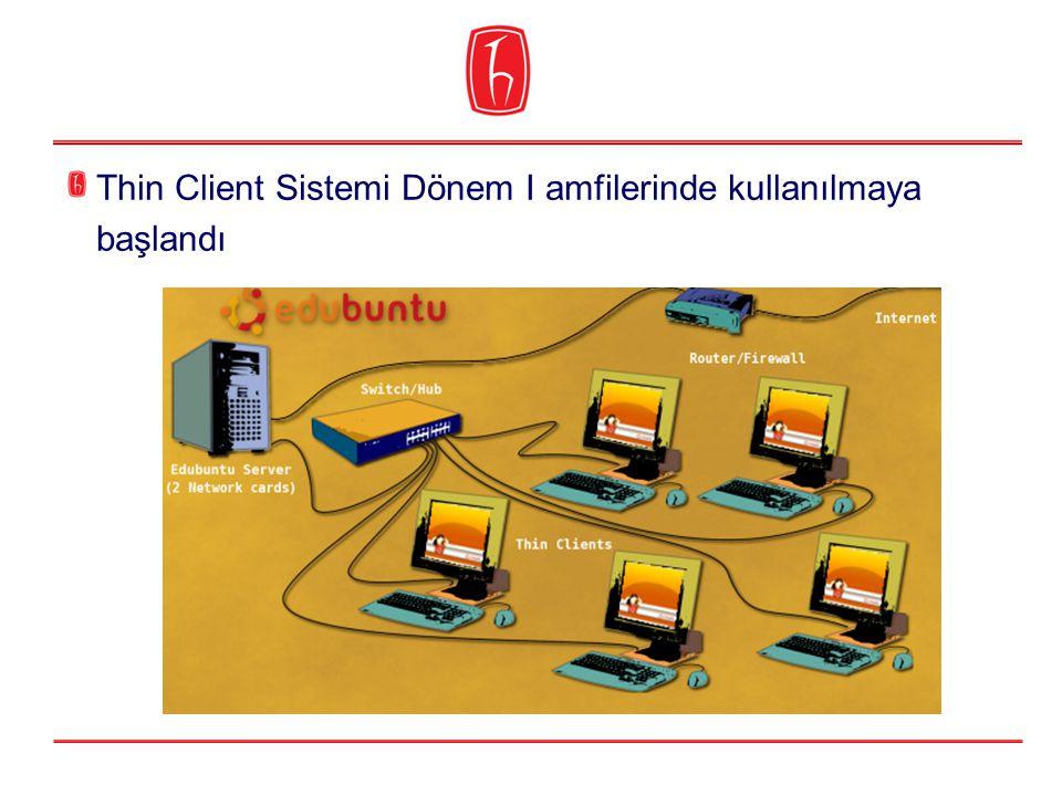 Thin Client Sistemi Dönem I amfilerinde kullanılmaya başlandı