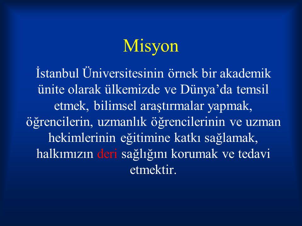 Anabilim Dalı Tarihçesi 1964 yılına kadar Cerrahpaşa ve Çapa Tıp Fakülteleri İstanbul Üniversitesi Tıp Fakültesi adı altında faaliyet göstermekteydi.