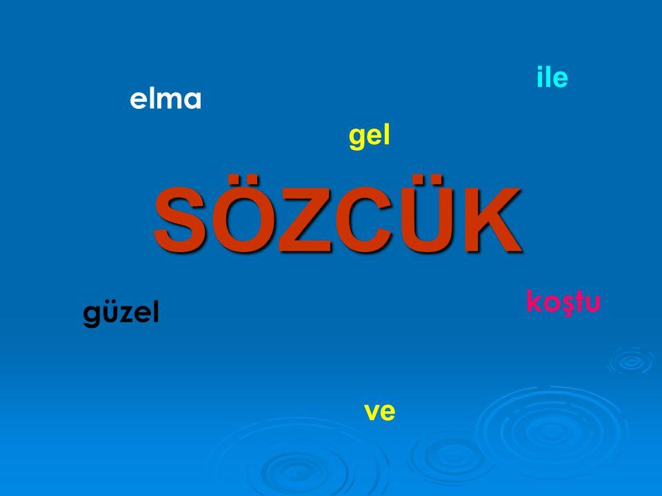 sözcük Eş anlamlı sözcükler Anlamlarına göre sözcük çeşitleri Zıt anlamlı sözcükler Eş sesli sözcükler Şimdi sıra sizde