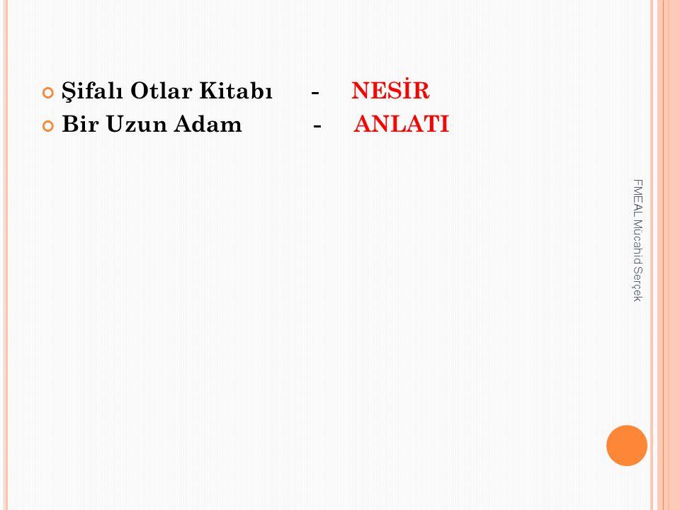 Şifalı Otlar Kitabı - NESİR Bir Uzun Adam - ANLATI FMEAL Mücahid Serçek