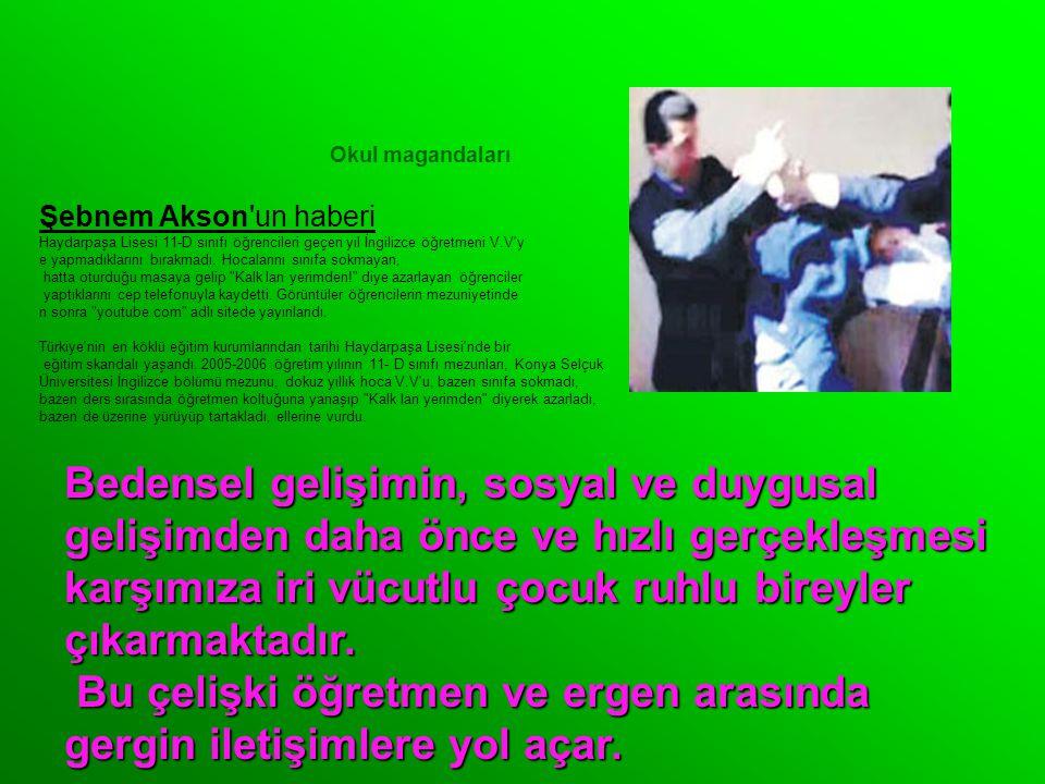 Okul magandaları Şebnem Akson un haberi Haydarpaşa Lisesi 11-D sınıfı öğrencileri geçen yıl İngilizce öğretmeni V.V y e yapmadıklarını bırakmadı.