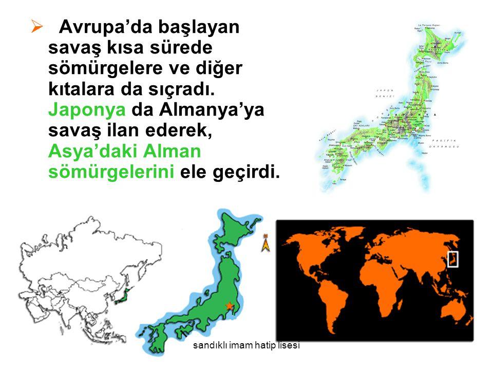  Avrupa'da başlayan savaş kısa sürede sömürgelere ve diğer kıtalara da sıçradı.