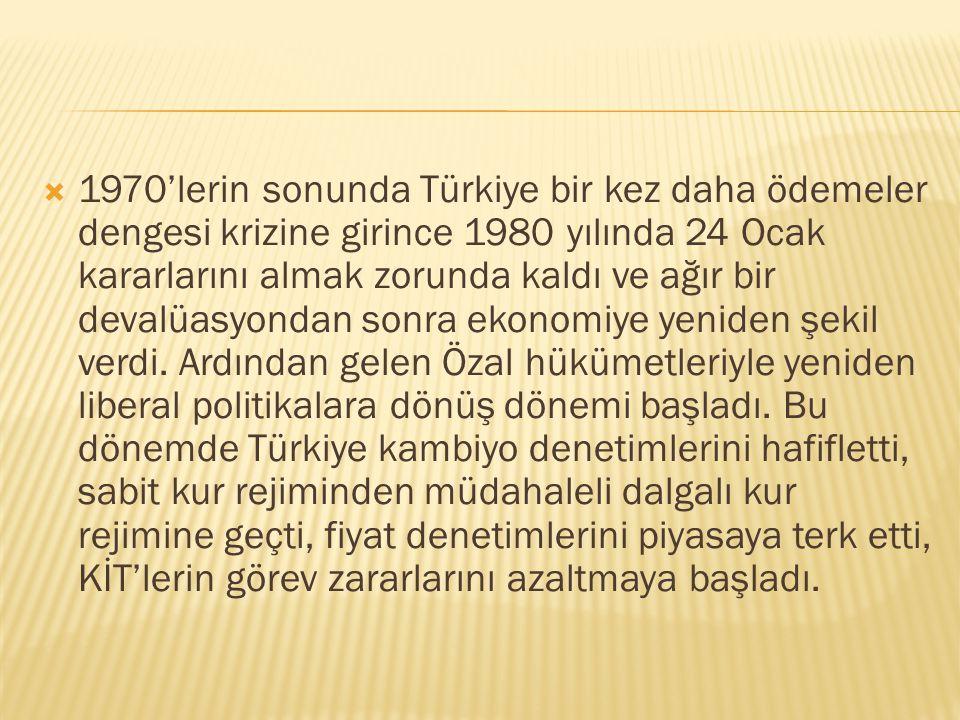  1960 darbesinin ardından Türkiye devletçi politikalar ağırlıklı olmak üzere planlı ekonomi modeline geçmiş, ithal ikamesi ve kambiyo denetimi eşliği