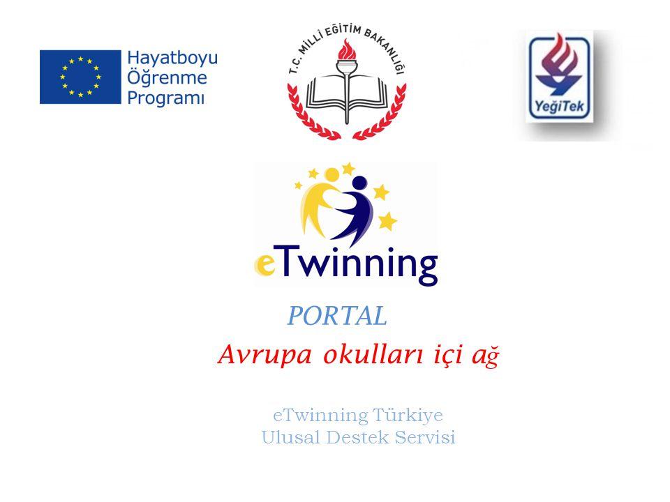 Avrupa okulları içi a ğ eTwinning Türkiye Ulusal Destek Servisi PORTAL