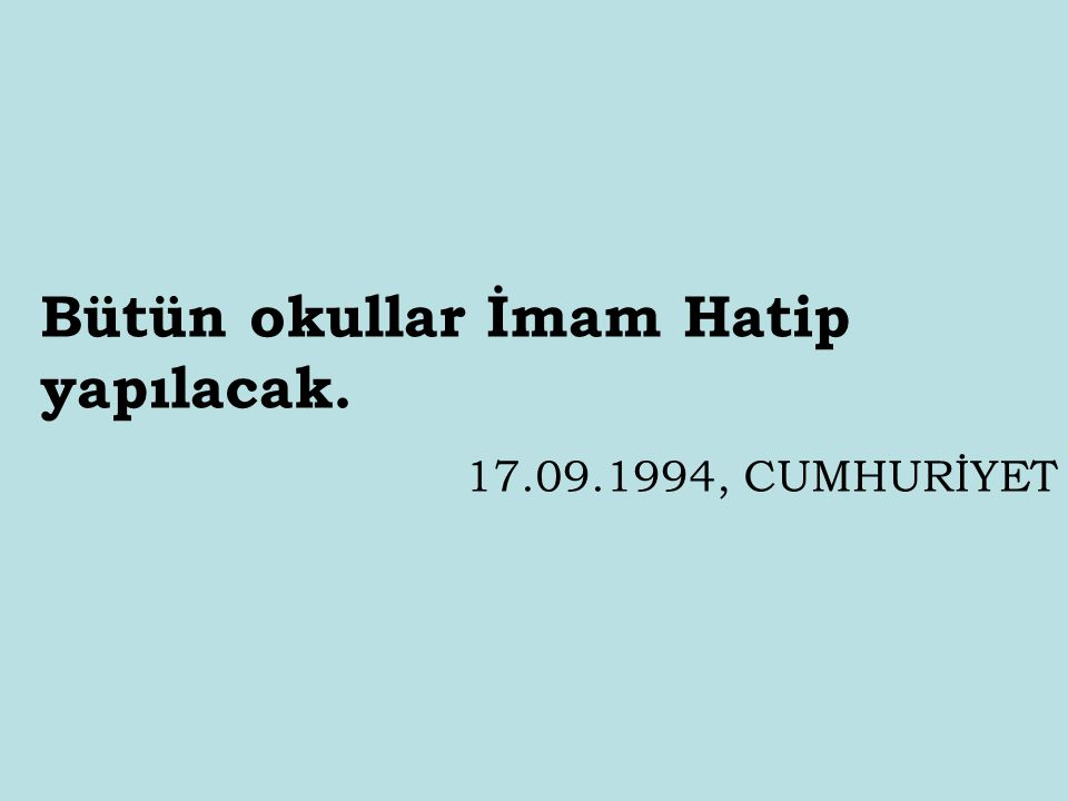 Milli Piyango zulümdür. 29.09.1994, HÜRRİYET