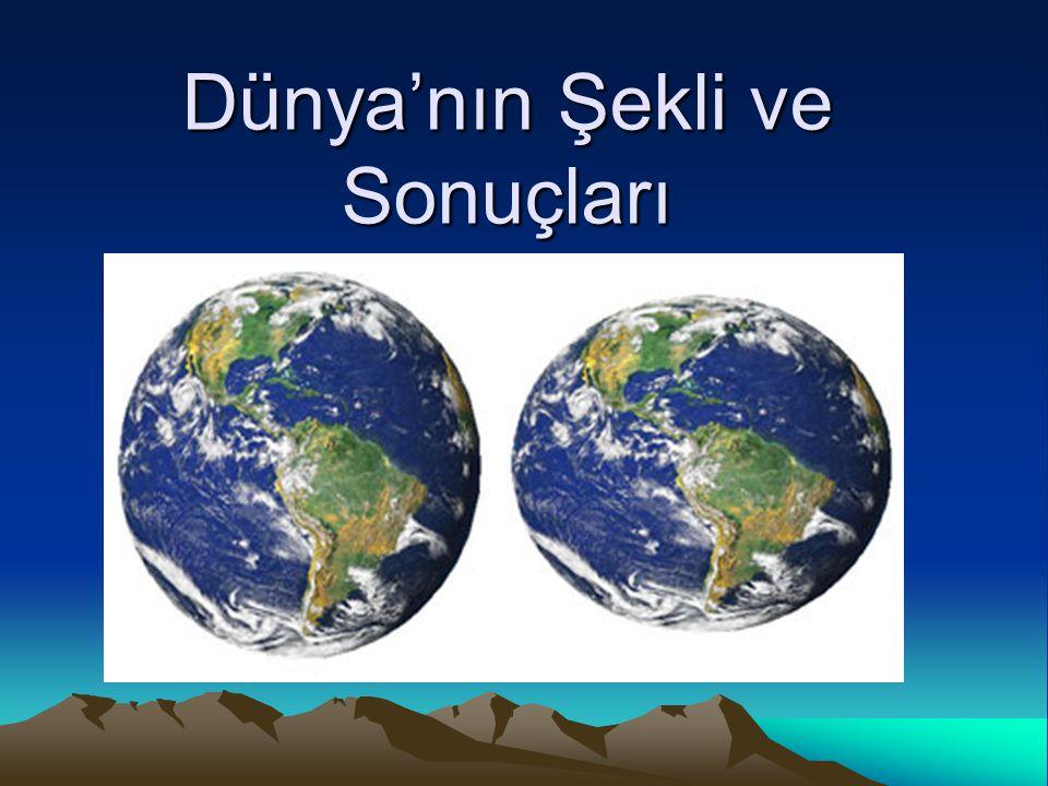 Dünya'nın Güneş Etrafındaki Dönüşünün Sonuçları Mevsimlerin oluşmasına ve değişmesine neden olur.