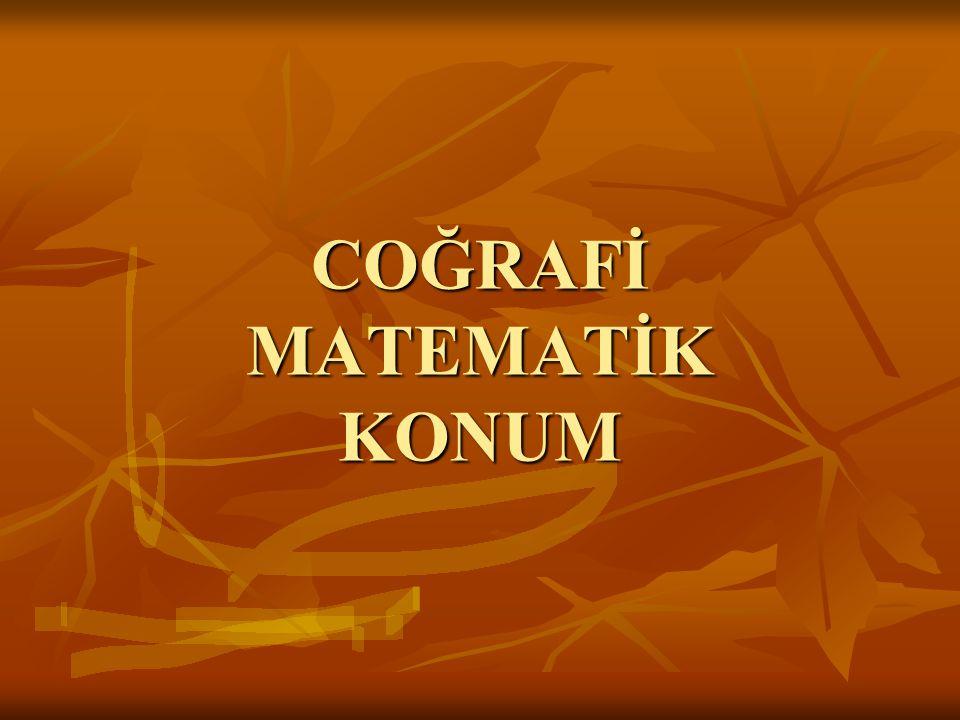 Türkiye 26-45 doğu meridyenleri ve 36-42 kuzey paralelleri arasında yer alır.