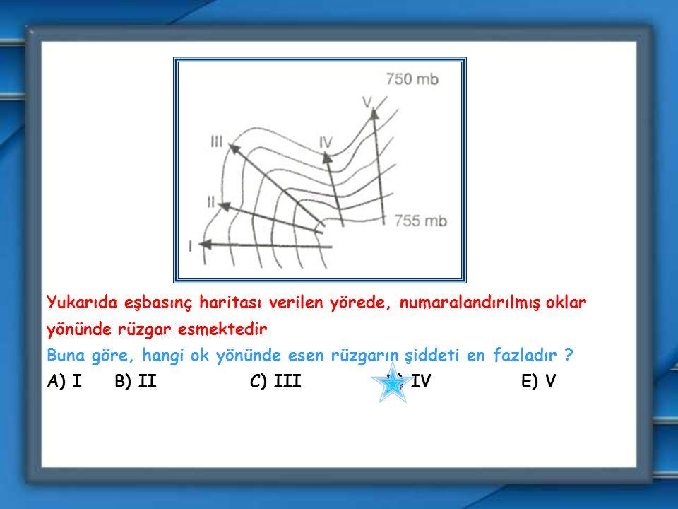 Şekildeki oklar, bir basınç alanında rüzgarın esiş yönünü göstermektedir. Buna göre, şekildeki basınç alanının özelliği ve bulunduğu yarımküre aşağıda