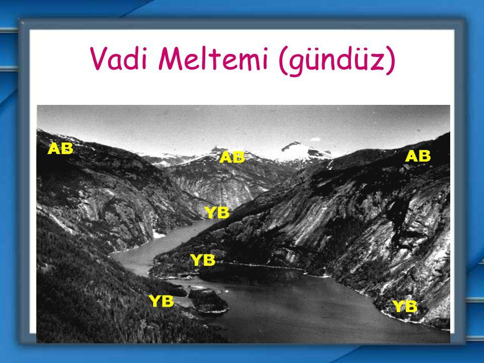 Dağ ve vadi meltemi: Dağ ve vadilerin farklı ısınması sonucu oluşurlar. Bunda güneş ışınlarını alma açısı ve nem oranlarının farklı olması etkilidir.