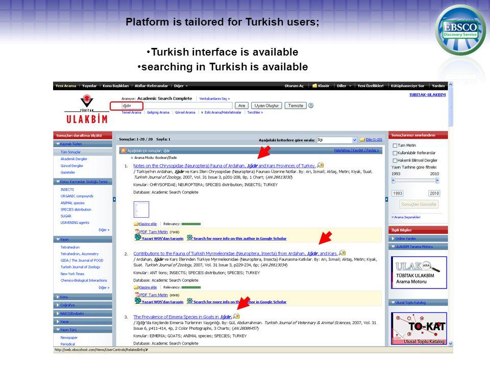 ULAKBIM Turkish National Databases has joined EBSCOhost