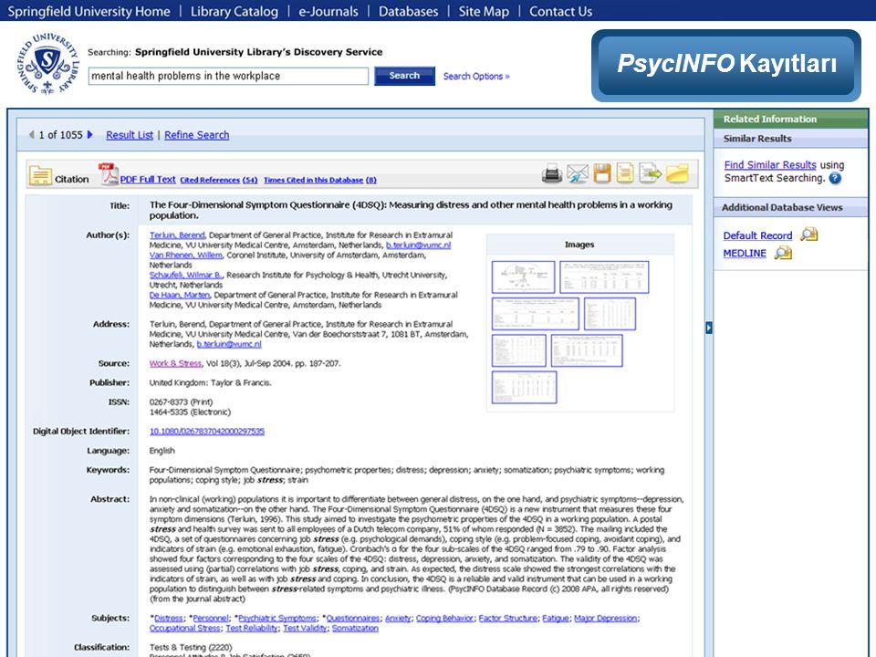 PsycINFO Kayıtları