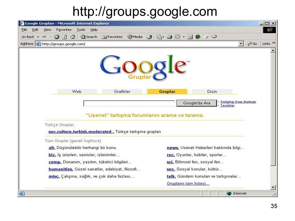 35 http://groups.google.com