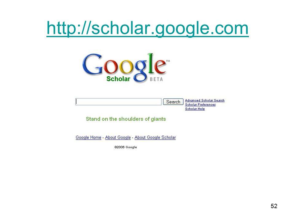 52 http://scholar.google.com