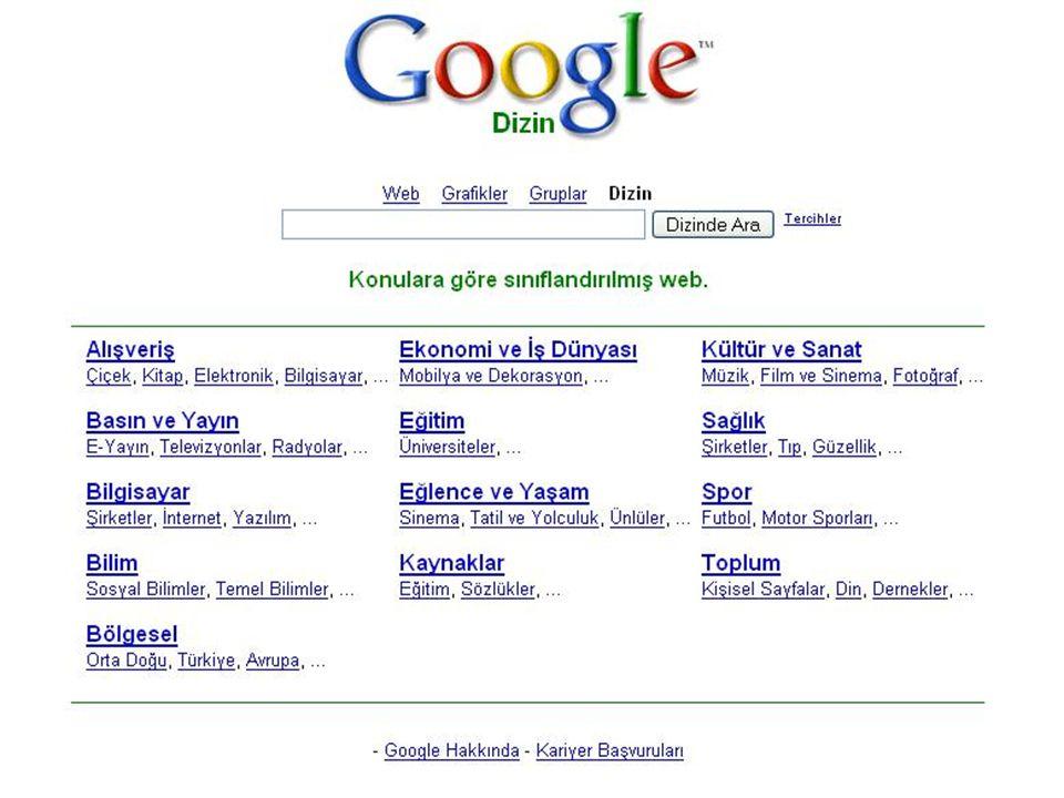 59 Ziyaret Edilmesi Önerilen Adresler Google Arama Motoru, http://www.google.comhttp://www.google.com E.Ü.