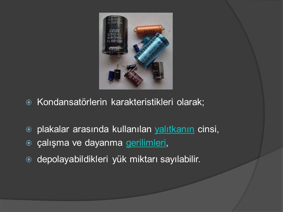  Ayarlanabilir Kondansatörler Kapasiteleri çeşitli yöntemlerle değiştirilebilen kondansatörlere ayarlanabilir kondansatör adı verilir.