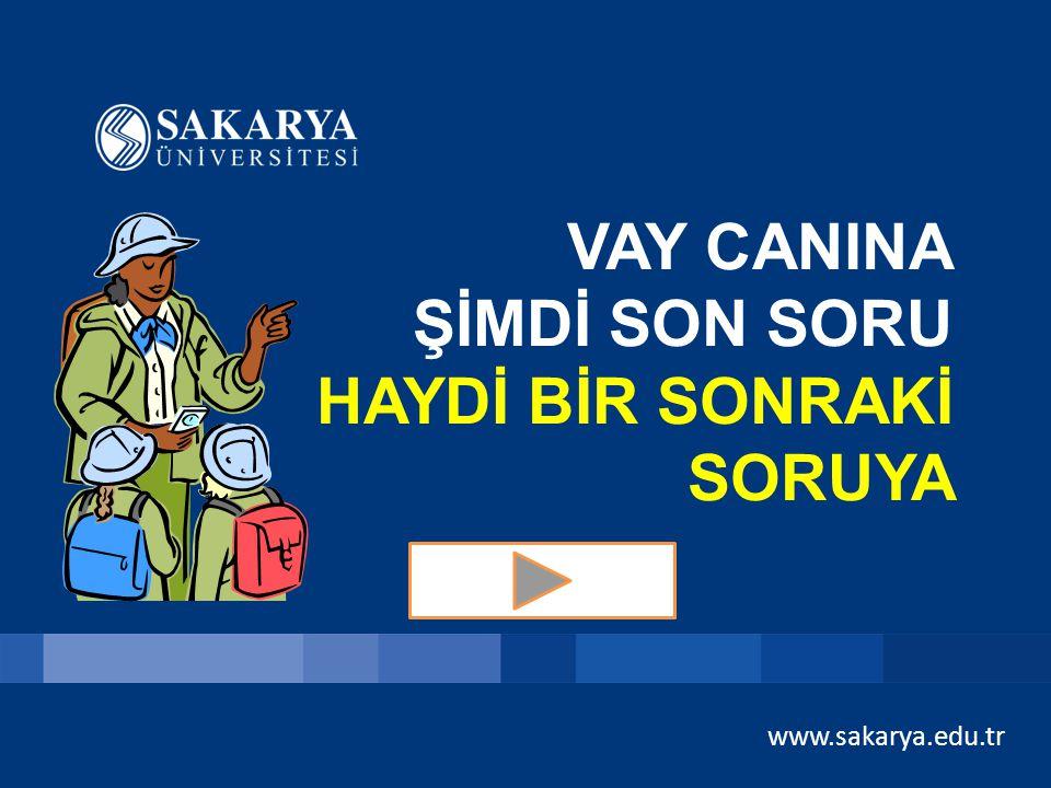 www.sakarya.edu.tr SORU 4 – 2000 TL Yazlar sıcak ve kuraktır, kışlar ılık ve yağışlıdır. Türkiye'de de görülür. Mandalina ve pamuk yetişir. A) Tropika
