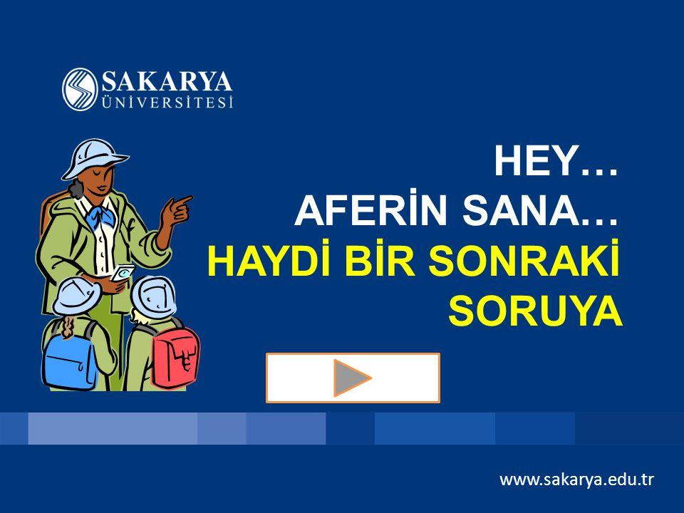 www.sakarya.edu.tr SORU 1 – 100 TL Tüm yıl yağış alır. İnsanlar genellikle ince giysiler giyer. Ahşap evler vardır. Yer yer su baskınları olur. Bu ikl